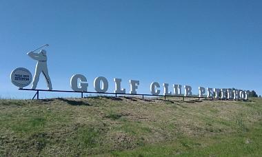 Объемные буквы GOLF CLUB PETERHOF